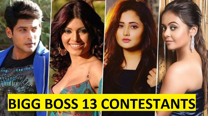 Bigg Boss 13 Here Is The Confirmed List Of Contestants Who