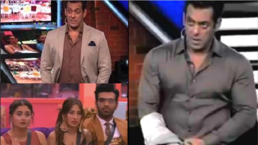 Salman Khan angry on Contestant