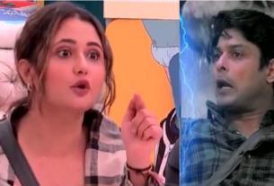 Rashmi desai not comfortable with siddharth shukla