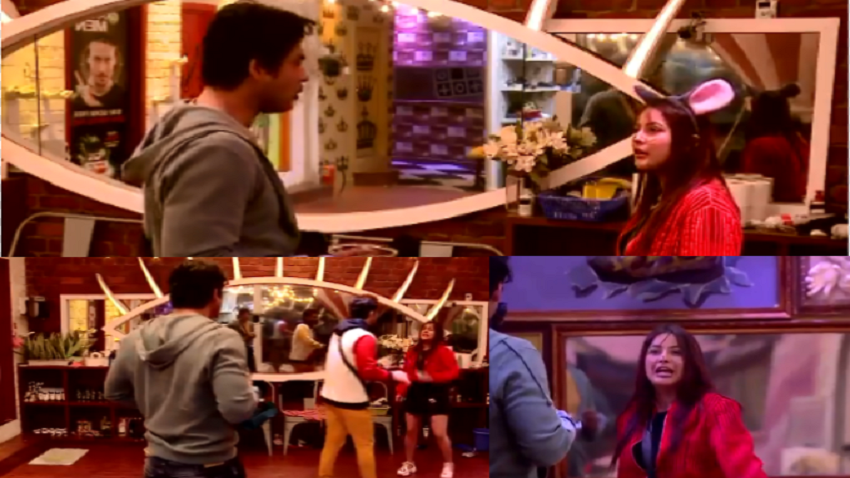 bigg boss 13 Shehnaz gill fight with Paras and siddharth