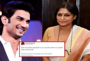 sushant singh rajput suicide case roopa ganguly bollywood news