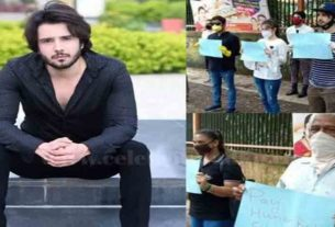 Hamari Bahu Silk Actor Zaan Khan Leads Silent Protest Outside Producers House Over Non-Payment Of Dues