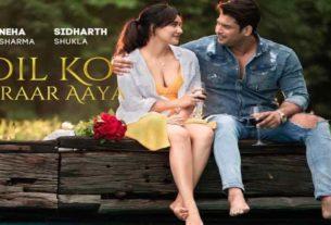 idharth shukla neha sharma new song Dil ko karaar aaya