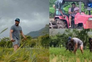 salman khan at panvel farmhouse farming