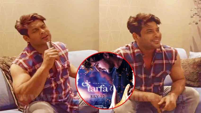 sidharth shukla lip-syncs darshan raval new song ek tarfa