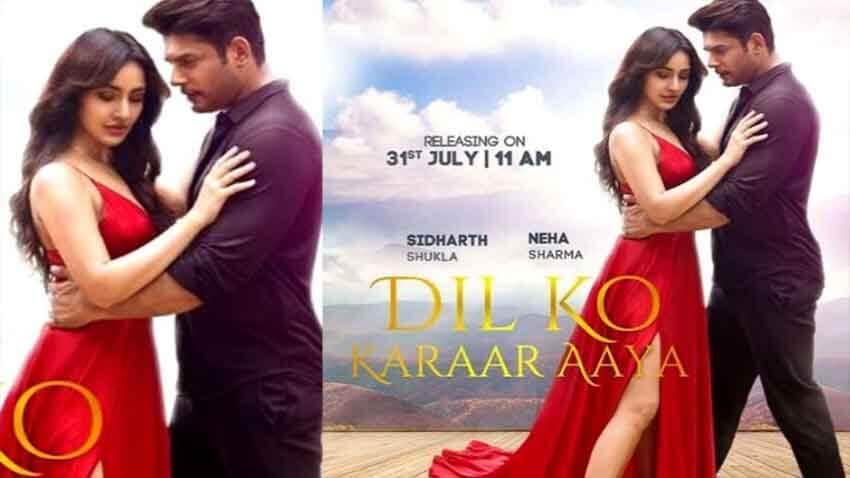sidharth shukla new song dil ko karaar aaya with neha sharma