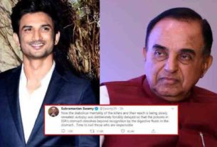Subramanian Swamy alleges Sushant Singh Rajput's autopsy was deliberately forcibly delayed
