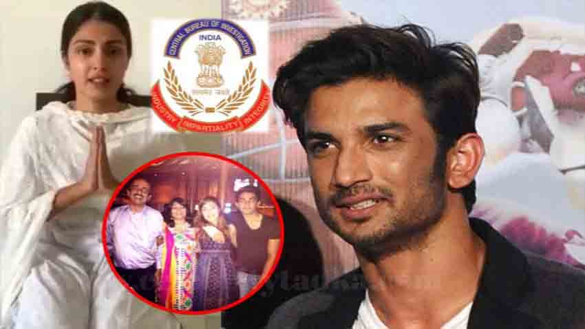 Sushant Singh Rajput Case CBI Registers FIR against Rhea Chakraborty Her Parents