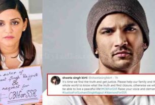 Sushant Singh Rajput Sister Shweta Singh Kirti Seeks Justice for her Brother requests for CBI