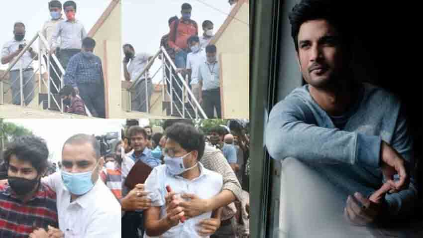 Sushant Singh Rajput case CBI along with Siddharth Pithani Dipesh Sawant And Cook Neeraj arrives at actors residence