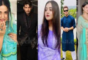 eid mubarak hina khan sidharth shukla rashami desai wishes their fans