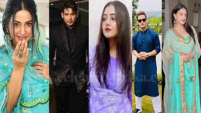 eid mubarak hina khan sidharth shukla rashami desai wishes their fans