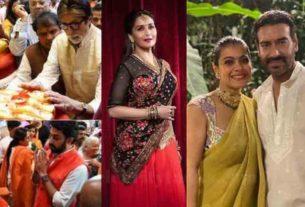 ganesh chaturthi celebration madhuri dixit amitabh bachchan ajay devgn
