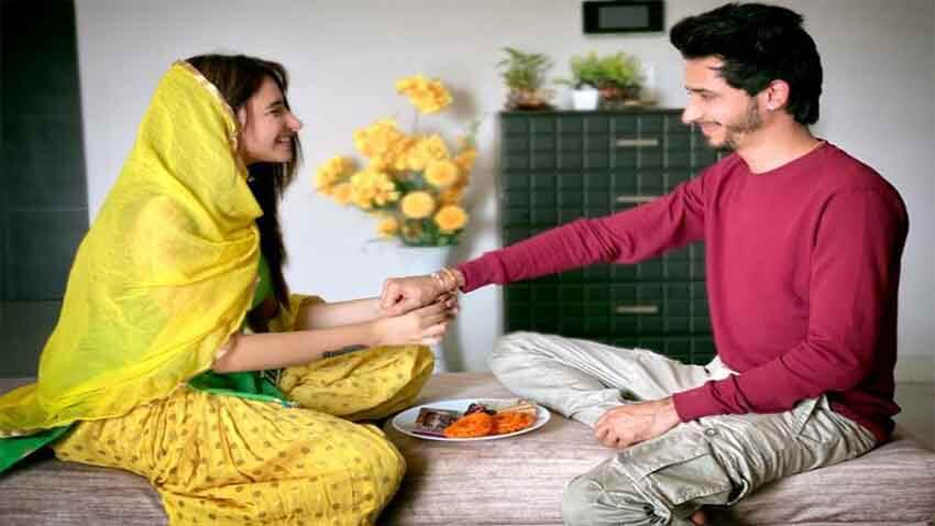 mahira sharma celebrates raksha bandhan with brother
