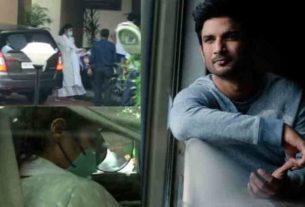 sushant singh rajput case Rhea chakraborty at DRDO office for questioning by CBI