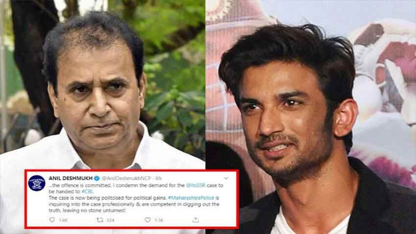 sushant singh rajput case anil deshmukh Condemns Demand for CBI Inquiry
