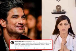 sushant singh rajput sister shweta singh kirti request early decision from supreme court