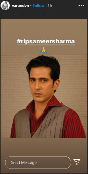varun dhawan mourns Sameer Sharma demise