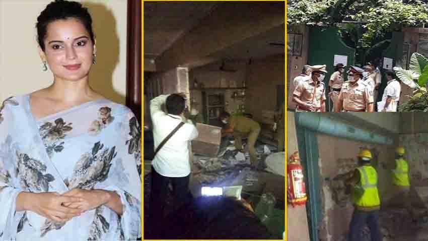 Kangana ranaut office demolished by BMC