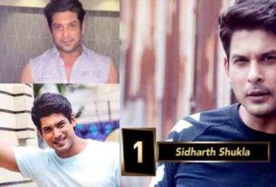 bigg boss 13 winner sidharth shukla grabs 1 position in 20 most Desirable Men on TV 2019