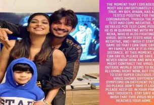 Arjun Bijlani wife and son tested positive for covid19