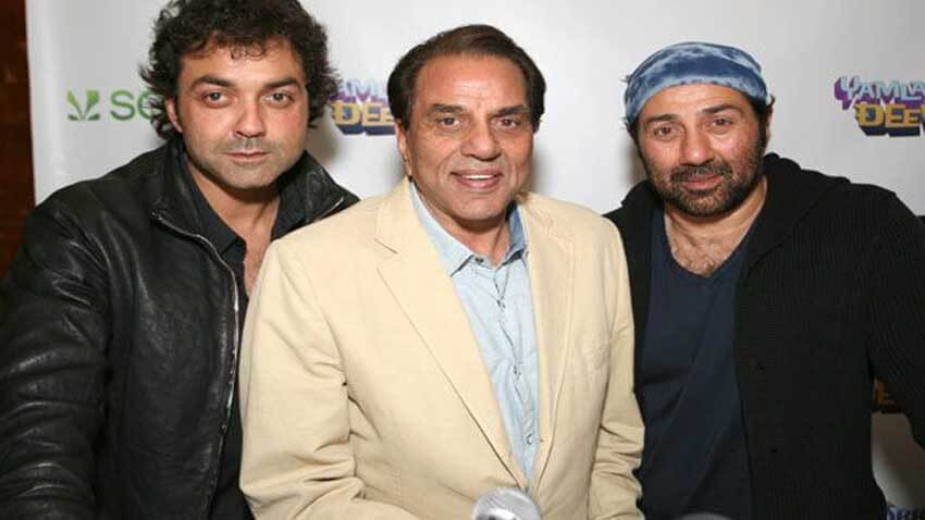 Dharmendra Sunny Deol and Bobby Deol film apne 2
