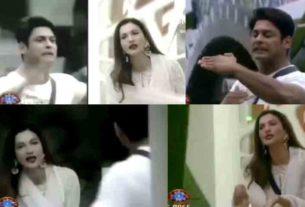 Sidharth shukla Gauahar Khan argument during a task in Bigg Boss 14 house