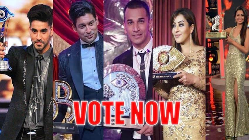 Bigg Boss winners Sidharth Shukla Gautam gulati gauahar prince narula shilpa shinde
