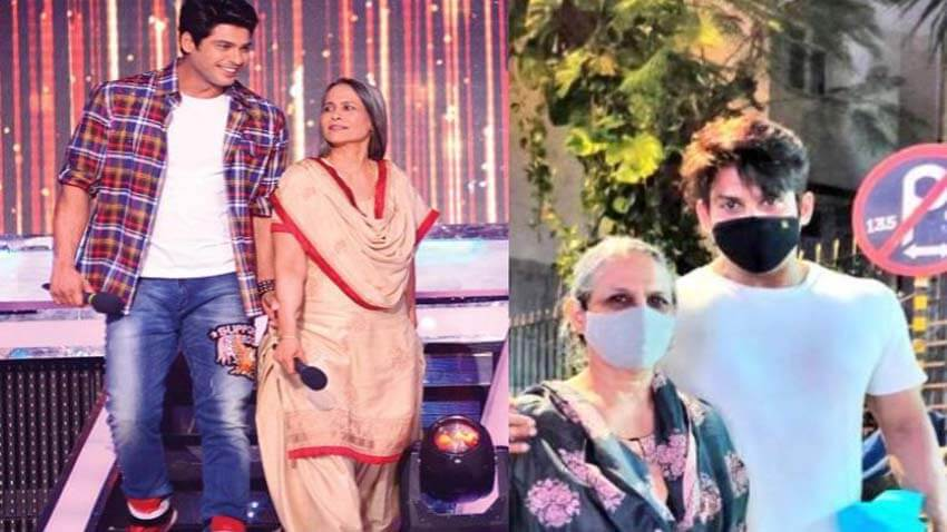 Sidharth Shukla with mother