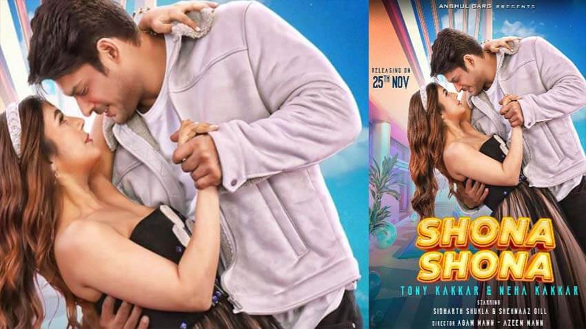 shehnaaz gill sidharth shukla music video shona shona