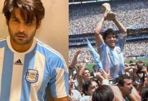 sidharth shukla pays tribute to Diego Maradona