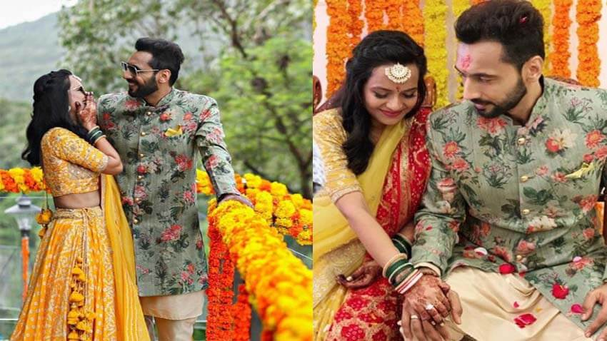 Punit Pathak with Fiancee Nidhi Moony Singh