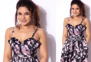 Shehnaaz Gill in floral dress