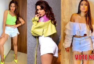 Shehnaaz gill surbhi chandna nia sharma in white shorts