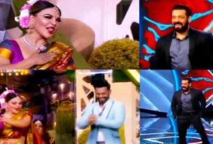 Bigg Boss 14 Salman Khan Rakhi Sawant lavani dance
