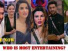 Bigg Boss 14 most entertaining contestant Rubina Dilaik Eijaz Jasmin Bhasin Rahul ALy goni