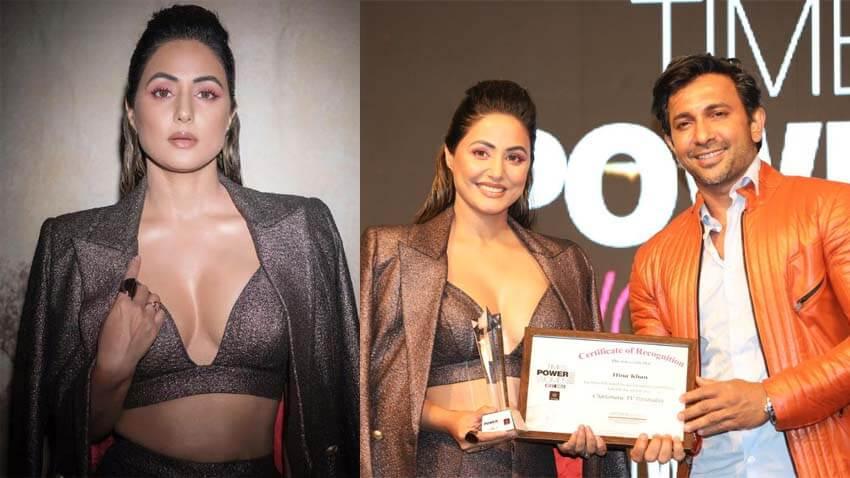 Hina Khan wins award
