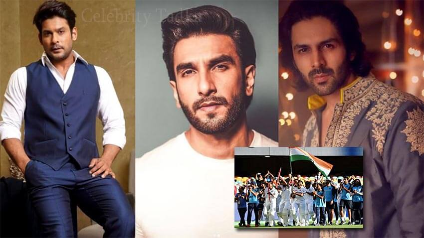 Sidharth Shukla Ranveer Singh Kartik Aaryan applauds Indian cricket team win