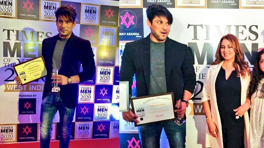 Sidharth Shukla wins award Mahima Chaudhry