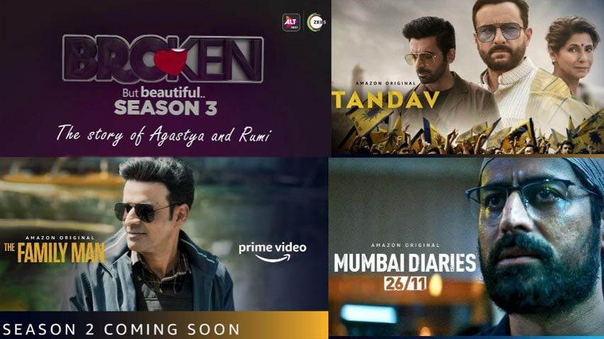 Upcoming web series 2021 Broken But Bautiful season 3, The family man 2, Tandav