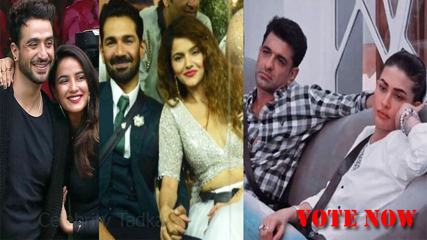 bigg boss 14 pair Rubina Abhinav, Jasmin Aly Goni, Eijaz Khan Pavitra Punia
