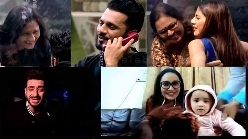bigg boss 14 rahul vaidya nikki tamboli meets their mother Aly Goni
