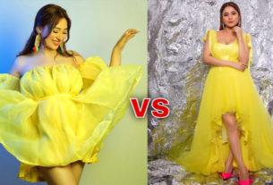 mahira sharma shehnaaz gill yellow outfit