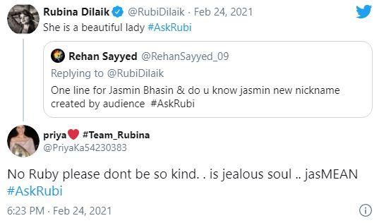 rubina dilaik twitter