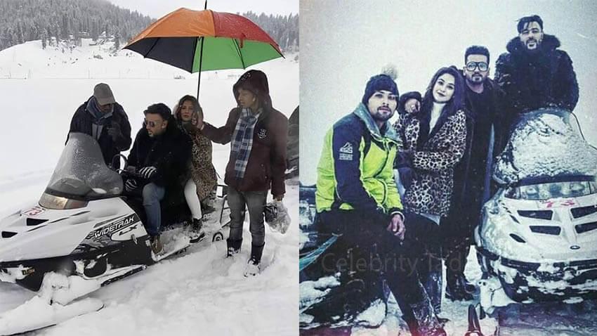 Shehnaaz Gill Badshah music video kashmir