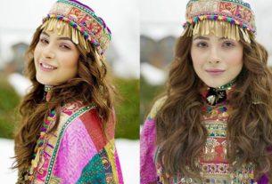 Shehnaaz Gill in Kashmiri outfit