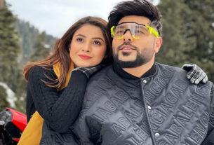 Shehnaaz gill with singer Badshah