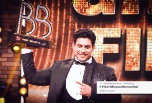 Sidharth Shukla bigg boss 13 winner