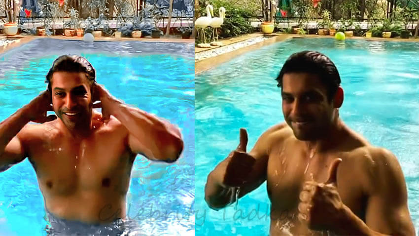 Sidharth Shukla enjoys swimming