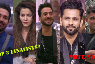 bigg boss 14 top 3 finalists Rubina Dilaik Rahul Vaidya Eijaz Khan Aly Goni